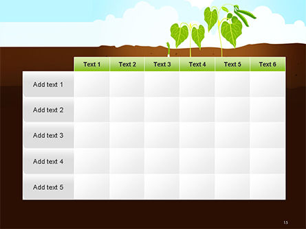 Peas Plant Growth Illustration PowerPoint Template Slide 15