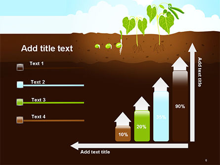 Peas Plant Growth Illustration PowerPoint Template Slide 8