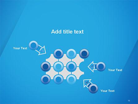 Plain Blue Background PowerPoint Template Slide 10