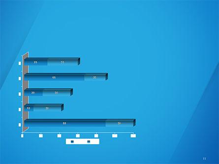 Plain Blue Background PowerPoint Template Slide 11