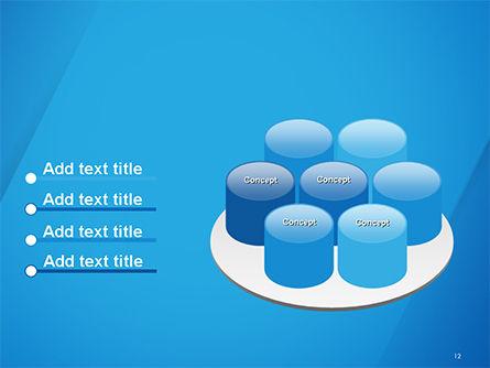Plain Blue Background PowerPoint Template Slide 12