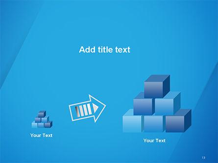 Plain Blue Background PowerPoint Template Slide 13