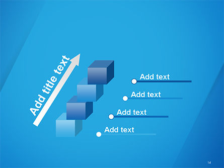 Plain Blue Background PowerPoint Template Slide 14