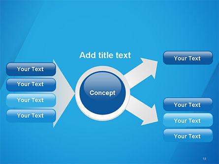 Plain Blue Background PowerPoint Template Slide 15