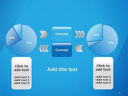 Plain Blue Background PowerPoint Template Slide 16