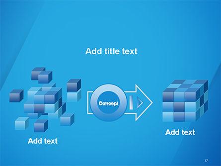 Plain Blue Background PowerPoint Template Slide 17