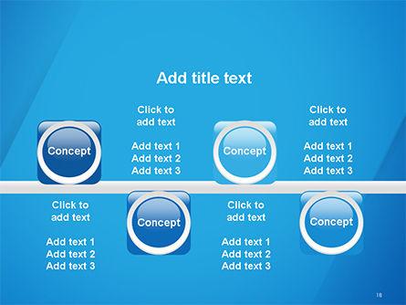 Plain Blue Background PowerPoint Template Slide 18
