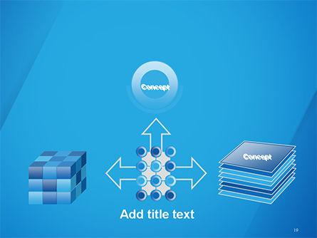 Plain Blue Background PowerPoint Template Slide 19