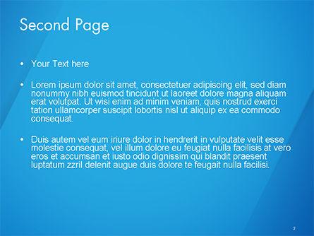 Plain Blue Background PowerPoint Template, Slide 2, 14683, Abstract/Textures — PoweredTemplate.com