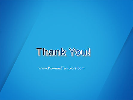 Plain Blue Background PowerPoint Template Slide 20