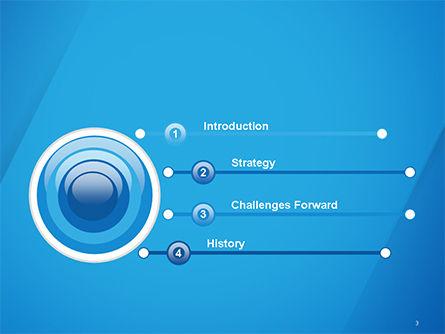 Plain Blue Background PowerPoint Template Slide 3