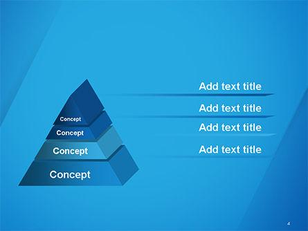 Plain Blue Background PowerPoint Template, Slide 4, 14683, Abstract/Textures — PoweredTemplate.com