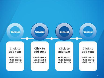 Plain Blue Background PowerPoint Template Slide 5