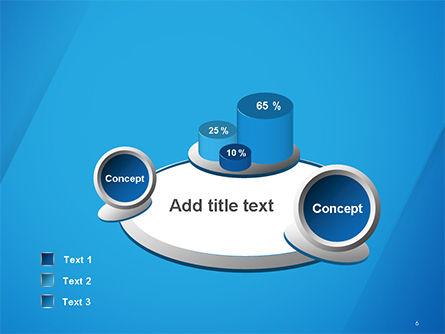 Plain Blue Background PowerPoint Template Slide 6