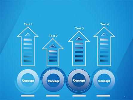Plain Blue Background PowerPoint Template Slide 7