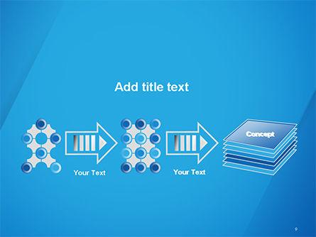 Plain Blue Background PowerPoint Template Slide 9