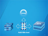 Plain Blue Background PowerPoint Template#19
