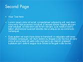 Plain Blue Background PowerPoint Template#2
