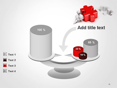 3D Small People Pushing Puzzle PowerPoint Template Slide 10
