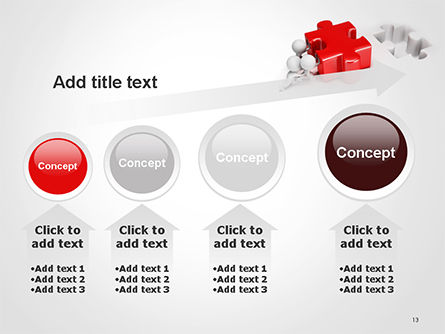 3D Small People Pushing Puzzle PowerPoint Template Slide 13