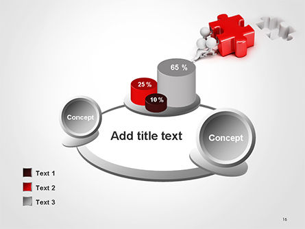 3D Small People Pushing Puzzle PowerPoint Template Slide 16