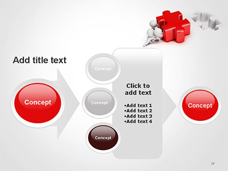 3D Small People Pushing Puzzle PowerPoint Template Slide 17
