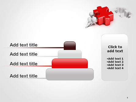 3D Small People Pushing Puzzle PowerPoint Template Slide 8