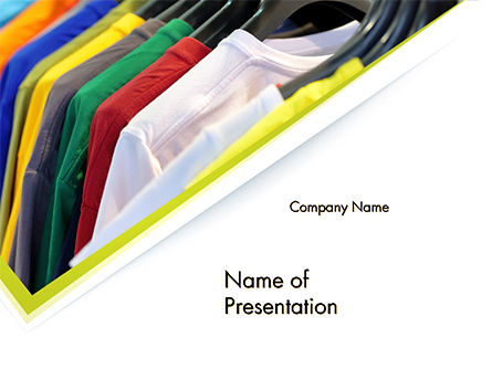 Row of T-shirts in Store PowerPoint Template, 14686, Careers/Industry — PoweredTemplate.com