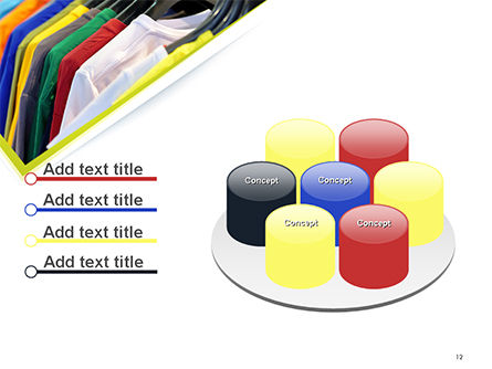 Row of T-shirts in Store PowerPoint Template Slide 12