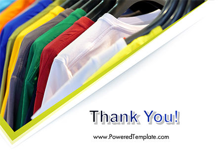 Row of T-shirts in Store PowerPoint Template Slide 20