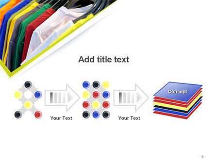 Row of T-shirts in Store PowerPoint Template Slide 9