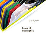 Careers/Industry: Row of T-shirts in Store PowerPoint Template #14686