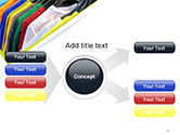 Row of T-shirts in Store PowerPoint Template#15