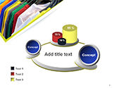 Row of T-shirts in Store PowerPoint Template#6