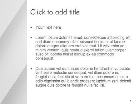 Minimalist PowerPoint Template, Slide 3, 14687, Abstract/Textures — PoweredTemplate.com