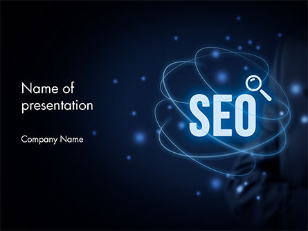 Technology and Science: Magic of SEO PowerPoint Template #14688