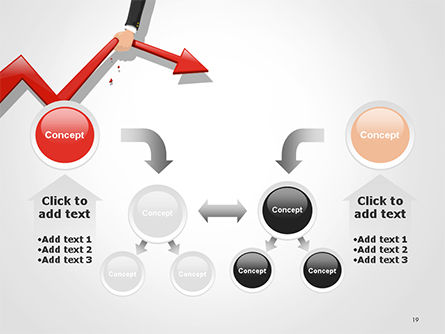 Businessman's Hand Pulling Red Arrow PowerPoint Template Slide 19