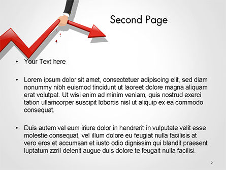 Businessman's Hand Pulling Red Arrow PowerPoint Template Slide 2