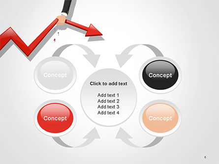 Businessman's Hand Pulling Red Arrow PowerPoint Template Slide 6