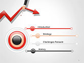 Businessman's Hand Pulling Red Arrow PowerPoint Template#3