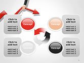 Businessman's Hand Pulling Red Arrow PowerPoint Template#9
