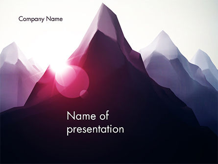 Mountain Peak PowerPoint Template, 14690, Nature & Environment — PoweredTemplate.com