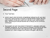 Business Woman Signing Contract PowerPoint Template#2