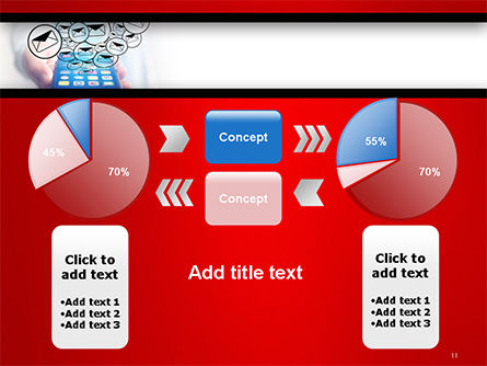 Man Checking Email in Smartphone PowerPoint Template Slide 11