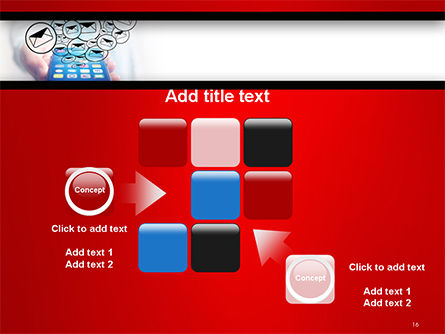 Man Checking Email in Smartphone PowerPoint Template Slide 16