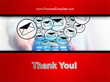 Man Checking Email in Smartphone PowerPoint Template Slide 20