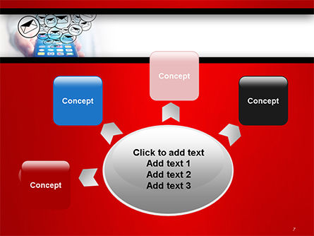 Man Checking Email in Smartphone PowerPoint Template Slide 7