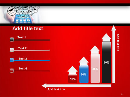 Man Checking Email in Smartphone PowerPoint Template Slide 8