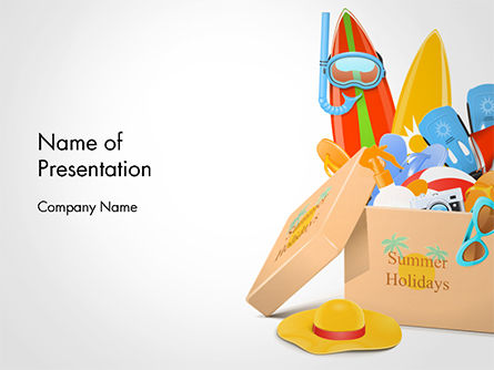 Summer Holidays Concept PowerPoint Template, 14693, Health and Recreation — PoweredTemplate.com