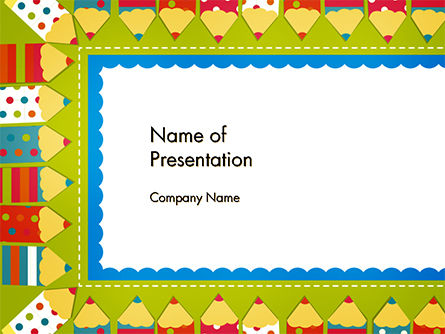 Education & Training: Frame of Colorful Funny Pencils PowerPoint Template #14694